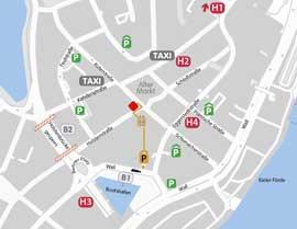 Hautarzt-Zentrum Kiel - Anfahrt, Karte, Parkplätze - MiniMap